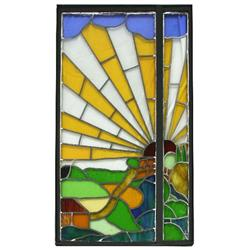 DOUBLE PANE MODERN ART GLASS WINDOW