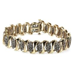 LADIES 10K YELLOW GOLD 6.5 CTW DIAMOND BRACELET
