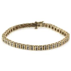 LADIES 14K YELLOW GOLD DIAMOND TENNIS BRACELET