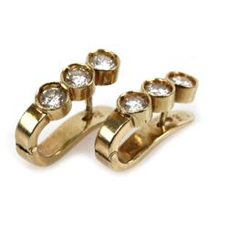LADIES 18K YELLOW GOLD 1.12 CTW DIAMOND EARRINGS