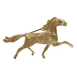 LADIES 14K GOLD EQUESTRIAN HORSE PIN