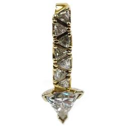 LADIES 14K YELLOW GOLD 2.78 CTW DIAMOND PENDANT