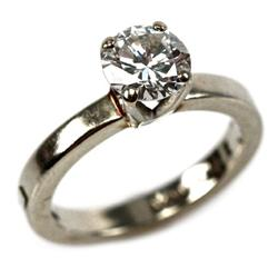 LADIES 14K GOLD 1.02 CT DIAMOND SOLITAIRE RING