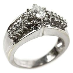 LADIES 14K WHITE GOLD 2.1 CTW DIAMOND RING