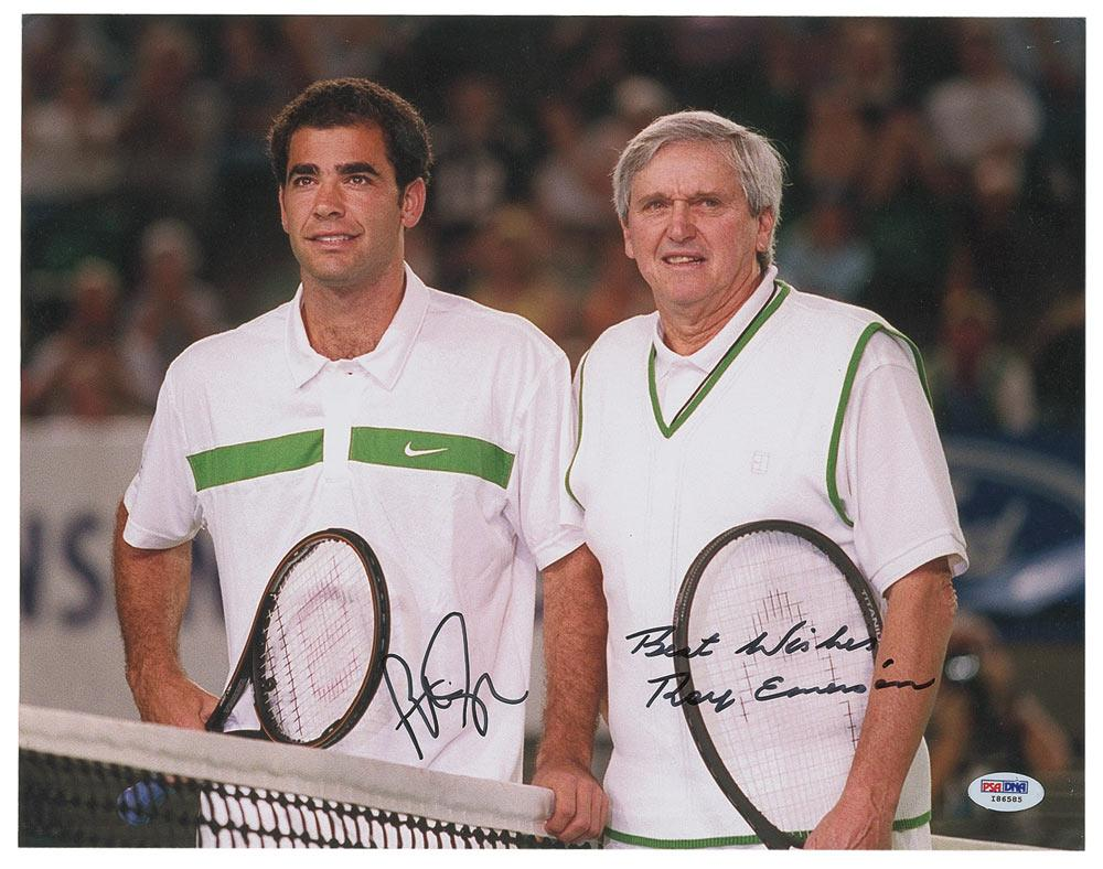Pete Sampras and Roy Emerson