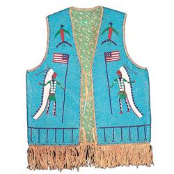 Plains Beaded Vest