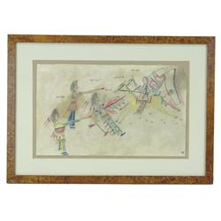 Framed Ledger Drawing