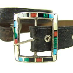 Zuni Inlay Buckle with Belt
