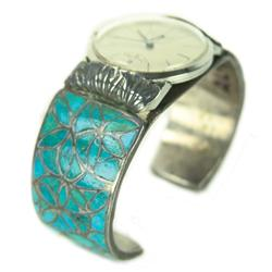 Zuni Inlay Watch Bracelet