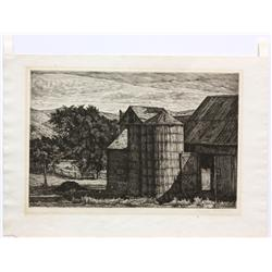 Etchings, Luigi Lucioni, Late Shadows