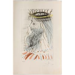 Color Etching, Salvador Dali, King Solomon