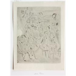 Etching, Jules Pascin, Tableau de Paris