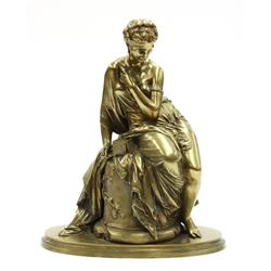 Bronze of a Seated Figure