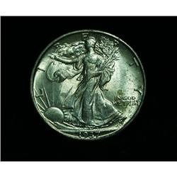 1937-s Walking Liberty 50c Grades Choice Uncirculated ms64++PQ