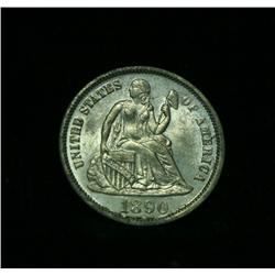 1890-p Seated Liberty Dime Select Uncirculated ms63