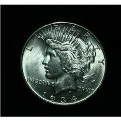 1934-d Peace Dollar $1 Grades Select Uncirculated ms63