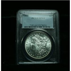 PCGS 1888-p Morgan Dollar Graded Choice Uncirculated ms64  PCGS