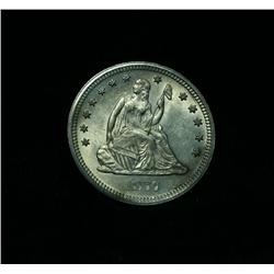1877-s Liberty Seated Quarter 25c Grades Choice Uncirculated ms64++PQ