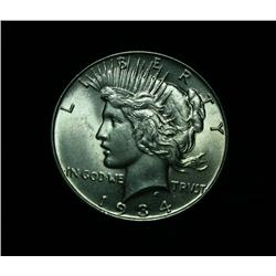 1934-p Peace Dollar $1 Grades Choice Uncirculated ms64