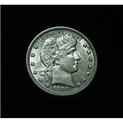 1909-p Barber Quarter grades Select Uncirculated ms63