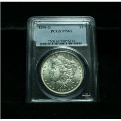 PCGS 1890-o Morgan Dollar Graded Select Uncirculated ms63  PCGS