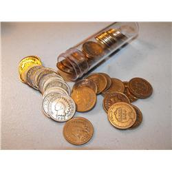 Roll of Indian Head Cents - In Tube