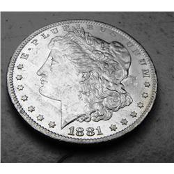 1881 s UNC  Morgan Silver Dollar