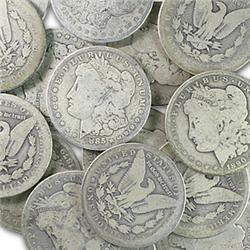 Lot of (20) Morgan Silver Dollars -ag-vg
