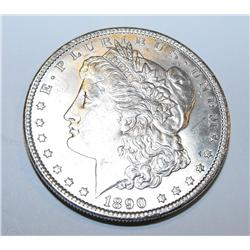 1890p ms63 Morgan Silver Dollar