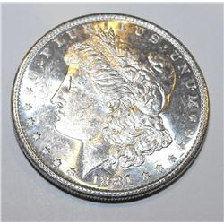 1881s pl-rv Morgan silver dollar
