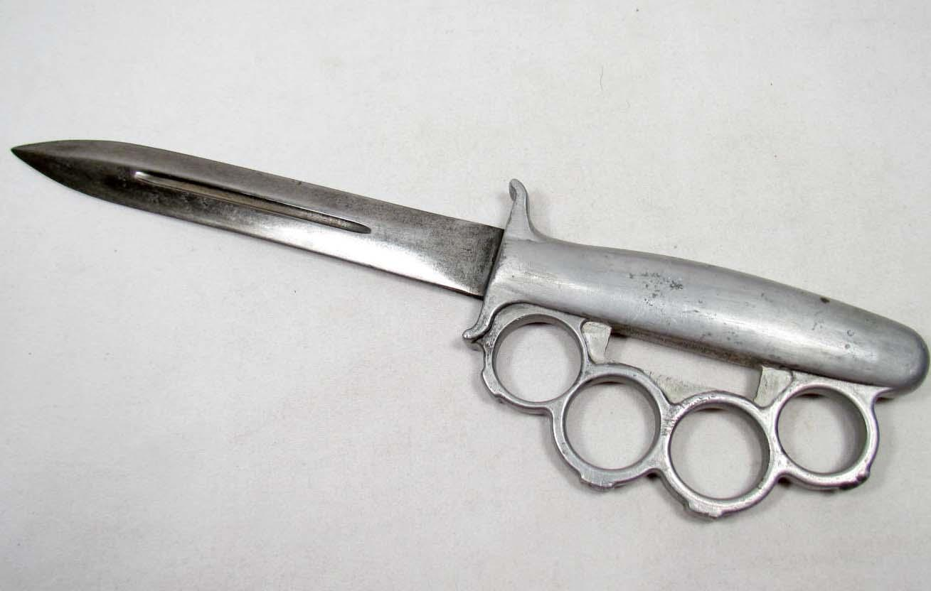 Rare Us Army Everett Combat Fighting Knuckle Knife