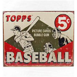 4469 - TOPPS BASEBALL GUM CARDS METAL ADVERTISING SIGN - 12.5 X 16