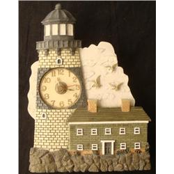 Lighthouse and Seagulls Clock w/ Ocean Sounds