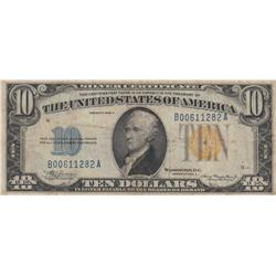 $10 NORTH AFRICA SILVER CERTIFICATE 1934