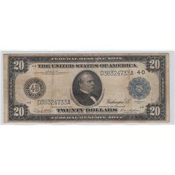 $20 FRN 1914 LARGE SIZE NOTE ***CLEVELAND***