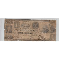 $1 OBSOLETE RAISIN RIVER MICHIGAN 1845