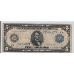 $5 FRN 1914 PHILLY