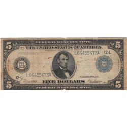 $5 SAN FRANCISCO FRN 1914