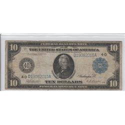 $10 FEDERAL RESERVE NOTE 1914