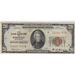 $20 FRBN 1929