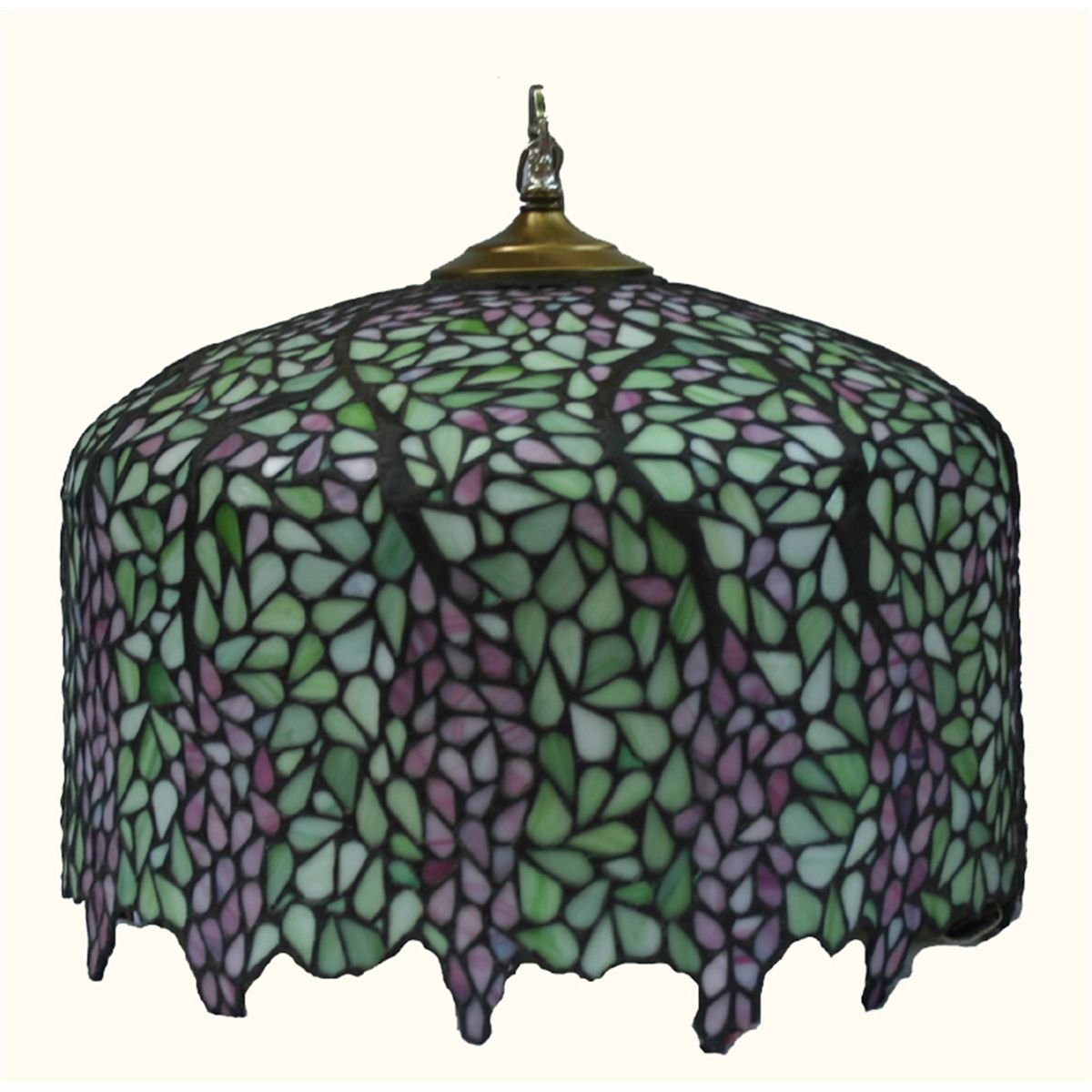 Stained glass lamp shade wisteria mozeypictures Gallery