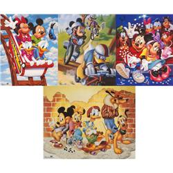 4 Disney Prints: Mickey Mouse &amp; Friends Goofy, Movies