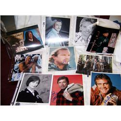 Lot of 10 Celebrity Signed Photographs Inclu: B.Reynolds,K.Costner,S.Segal,L.Majors,C.Gooding Jr +