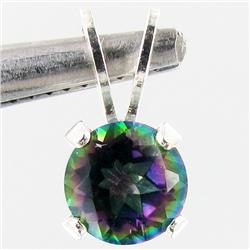 1.51twc Rainbow Topaz Sterling Pendant (JEW-2678)