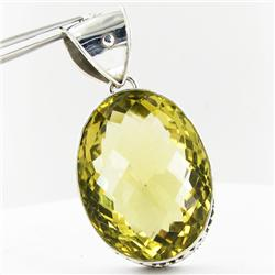 230twc Lemon Citrine Sterling Pendant (JEW-3358)