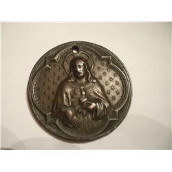 1875 Copper Jesus Medallion