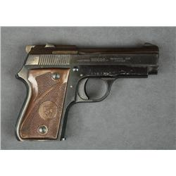 "French Armes Unique Model L semi-auto pistol,  9mm cal., 3-1/2"" barrel, black finish,  checkered fac"