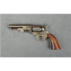 "Brevet copy of a squareback Colt Model 1849  pocket percussion revolver, .31 cal., 4""  octagon barre"