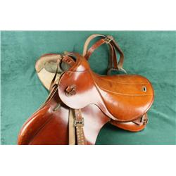 German Military Cavalry Saddle Model 25  (Armeesattel 25), dated 1940, with Waffenamt  stamp, (an Ea