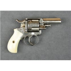"British Bulldog DA revolver, .41 cal., 2-1/2""  barrel, nickel finish, beautiful ivory  grips, #NVSN."